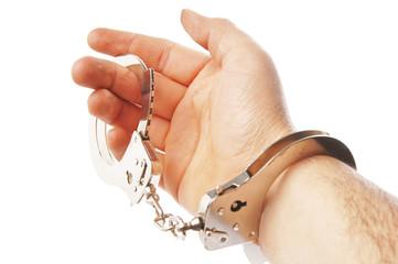 Hand und Handschellen