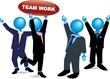 team work-blue heads