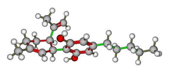 Cannabidiol molecular model