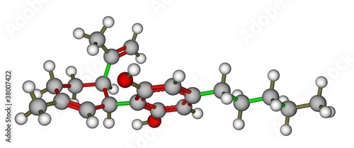 Cannabidiol molecular model
