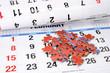 Jigsaw Puzzle on Calendar