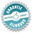 bouton service client garantie