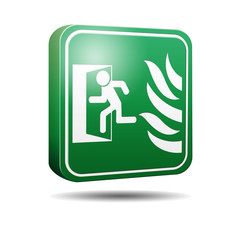 Icono 3D salida de emergencia