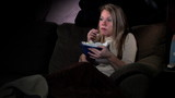 Girl Watches Scary Movie