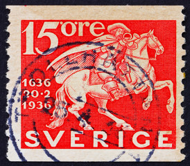 Postage stamp Sweden 1936 Mounted Courier