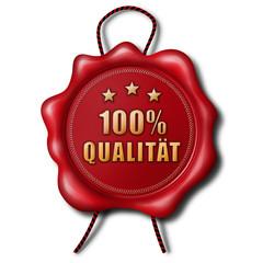 100% Qualität - Wachssiegel
