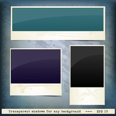 Set of grunge frames for text on vintage background