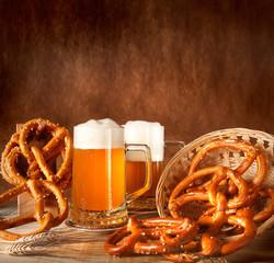 Birra con pane tipico