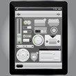 Web and mobile interface elements and tablet pc,vector