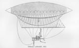 Henri Giffard hydrogen-filled airship, from 1852 poster