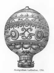 Montgolfier brothers hot air balloon from 1783