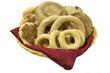 Basket of Honduran rosquillas, tustacas and quesadillas.