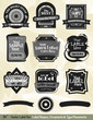Vector Label Kit:  Label designs, ornaments