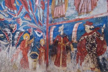 religious frescoes, Moldovita, Bucovina