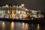 The State Hermitage Museum and Neva at night poster