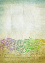 old grunge paper ,water pattern ,retro background