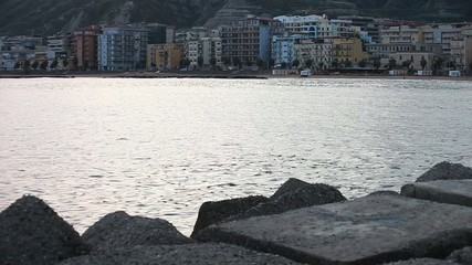 Marine rocks near town