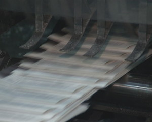 Devices for printing newspaper. Mass press daily edition.