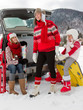 Winter, travel - family ready for the travel for winter vacation