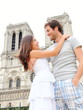 Notre Dame de Paris - happy couple