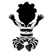 Little African American Criminal Girl Illustration