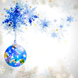 Christmas background with abstract winter snowflakes
