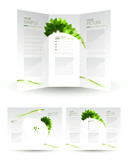 vector design of eco booklet poster