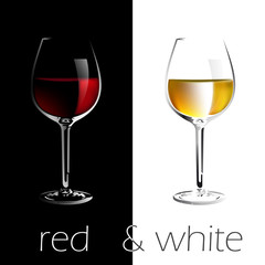 Red and White Wine List # Vector