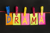 Drama word poster