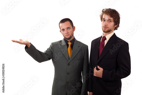 Two man standing