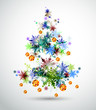 Christmas background with abstract fir tree