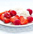 Fresh fruits with Mascarpone
