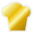 Kochmütze gold