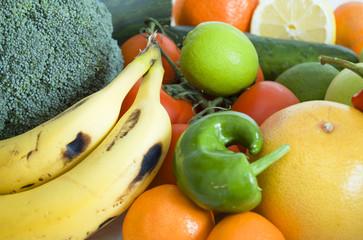 Frutas y verduras para una alimentación sana