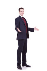 young business man welcoming