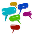 Colorful speech bubbles, 3D image