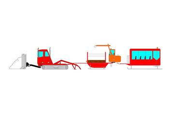 Complete snowcat, snowmobile for Kids - Gatto delle nevi