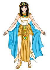 Illustration of an Egyptian princess