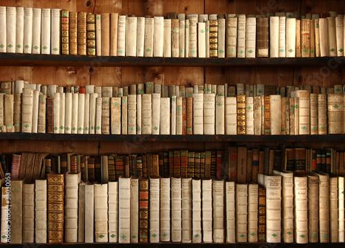 Obraz na płótnie Altes Bücherregal