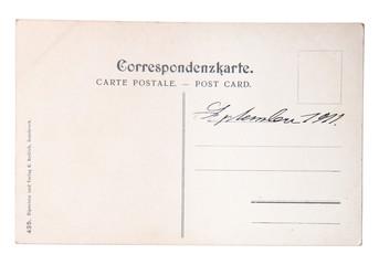 Postkarte mit Handschrift