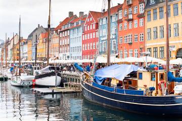 Nyhavn  waterfront, canal  in Copenhagen