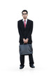 Isolated standing businessman
