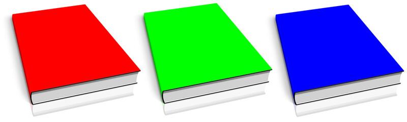 RGB empty book template