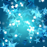 blue azure and white stars
