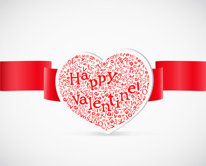 .Valentine`s day greeting card with letters