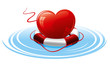 Heart in the lifebuoy.