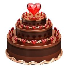 Love chocolate wedding cake