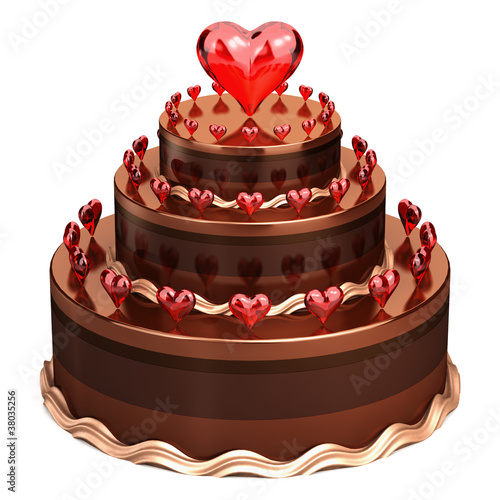 Love chocolate wedding cake