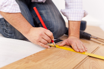 Home improvment - laying laminate flooring