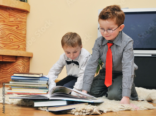 boys with books